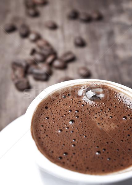 Кубок черный кофе мелкий области Сток-фото © nessokv