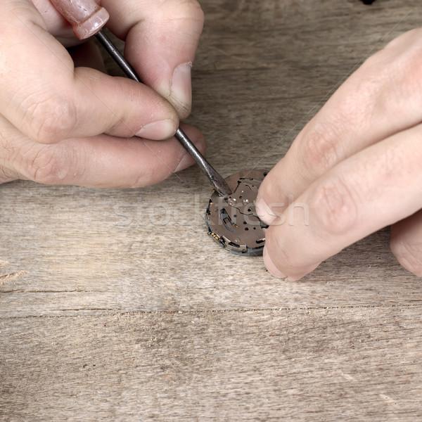 watchmaker repairing battery Stock photo © nessokv