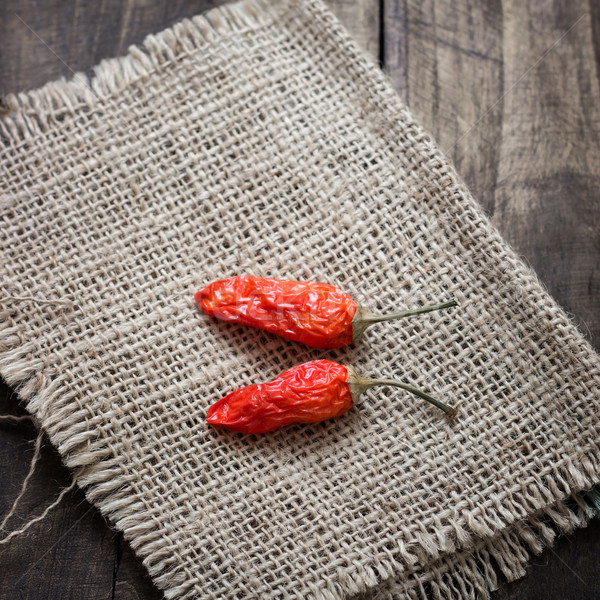 Dried red chilly pepper Stock photo © nessokv