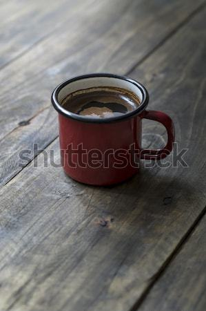Tin mug with coffee Stock photo © nessokv