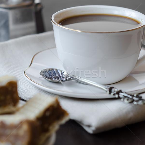 Stockfoto: Chocolade · cookies · beker · koffie
