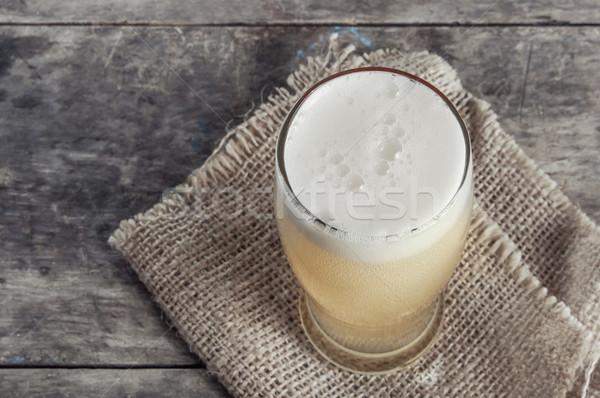 glass of fresh lager beer  Stock photo © nessokv