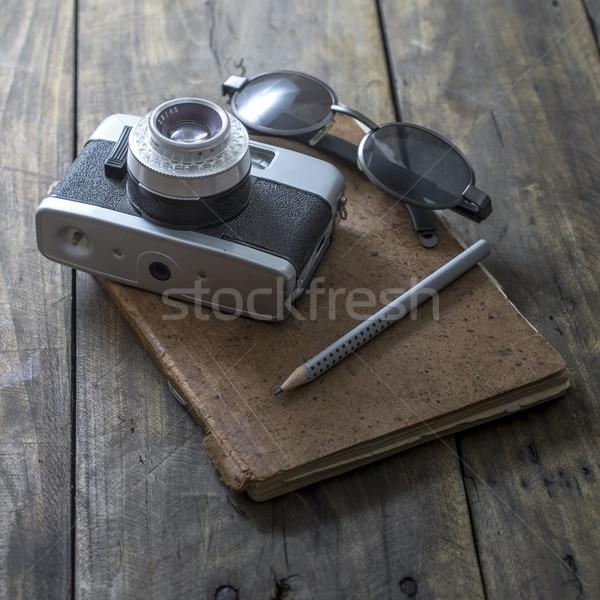 Stock photo:  photographer working desk