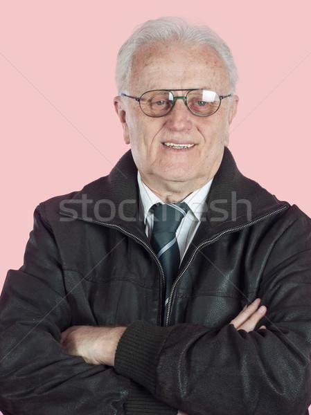 реальные люди старший бизнесмен портрет улыбаясь Сток-фото © nessokv