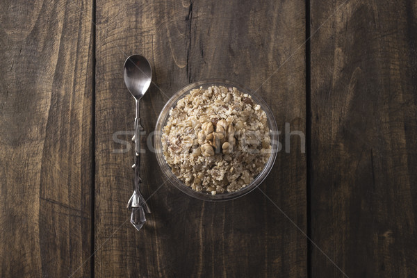 Boiled wheat and walnut Stock photo © nessokv