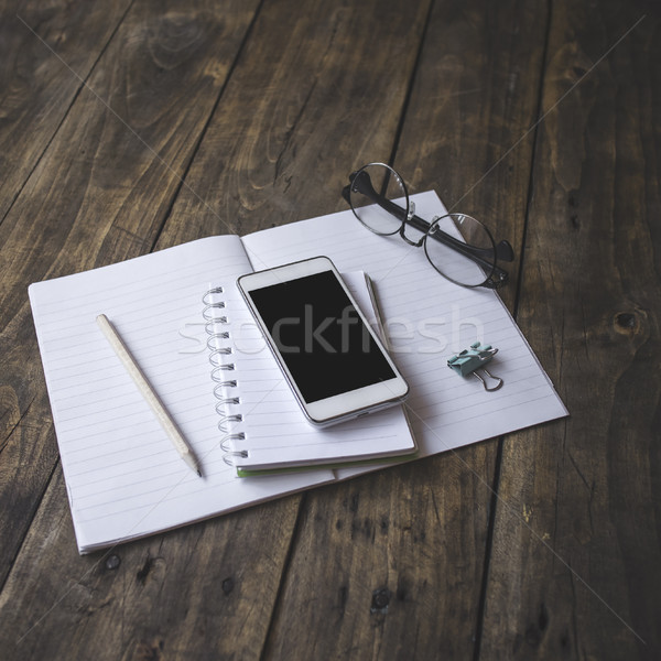Home office tabletop. Vintage lifestyle. Stock photo © nessokv
