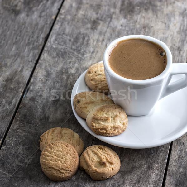 Xícara de café bolinhos tabela cor copo praça Foto stock © nessokv