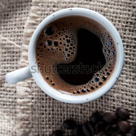 freshly brewed mug of  black  coffee Stock photo © nessokv