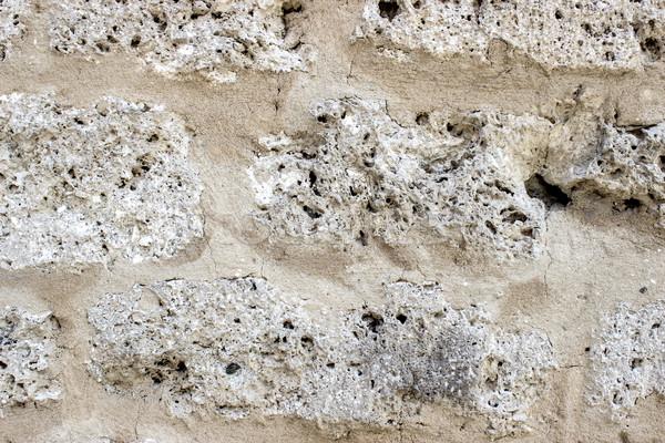 limestone wall Stock photo © nessokv