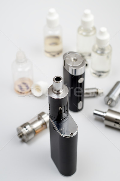 kit for healthy smoking on  wooden table Stock photo © nessokv