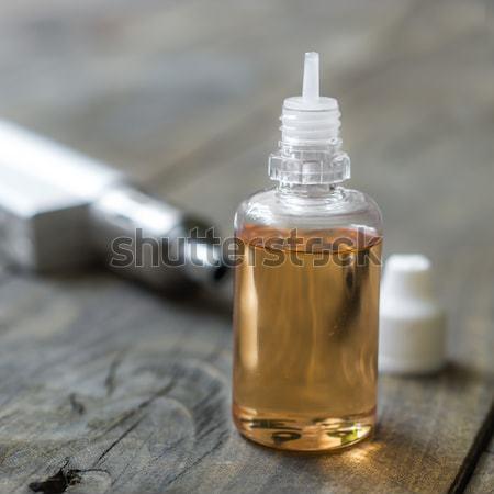 Különböző üvegek közelkép üveg cigaretta ötlet Stock fotó © nessokv