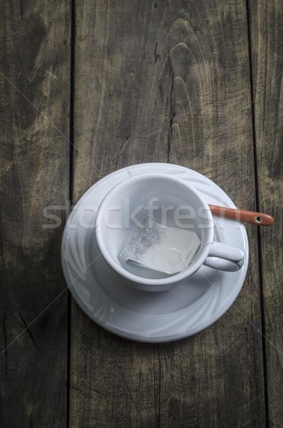 Boş çay çanta beyaz Stok fotoğraf © nessokv