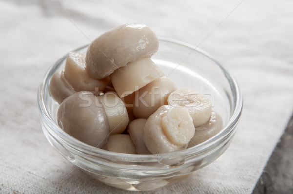 Conserved mushrooms in glass  Stock photo © nessokv