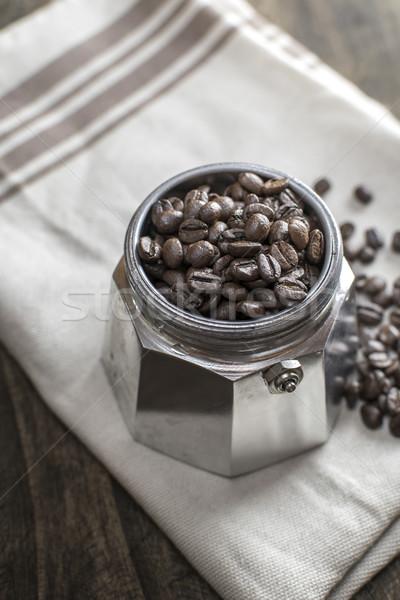 итальянский кофеварка банка кофе Сток-фото © nessokv