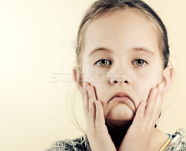 Portrait of a sad little girl Stock photo © nessokv