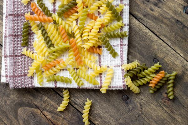 macaroni in different colors Stock photo © nessokv