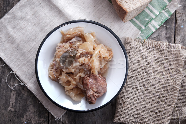 Cooked sauerkraut with meat Stock photo © nessokv