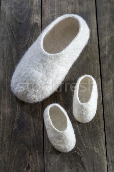 Wygodny wełny domu buty Zdjęcia stock © nessokv