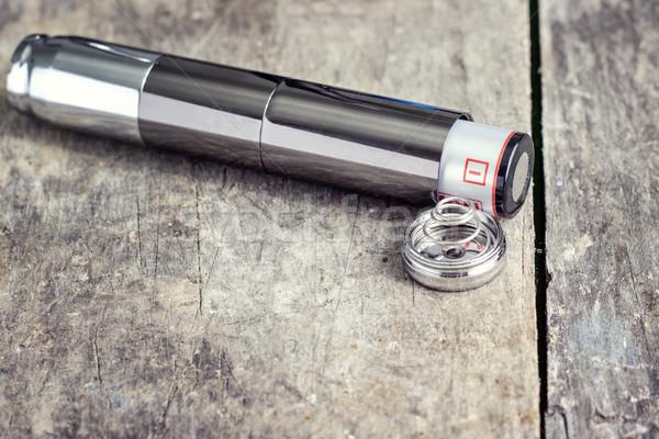 Elektronikus cigaretta elem közelkép fekete senki Stock fotó © nessokv