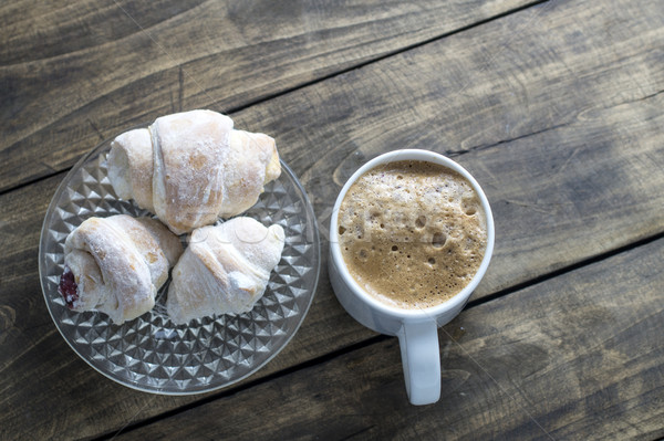домашний десерта клубника Jam кофе Сток-фото © nessokv