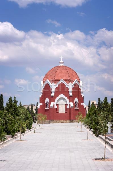 Церкви французский солдаты кладбище синий красный Сток-фото © nessokv