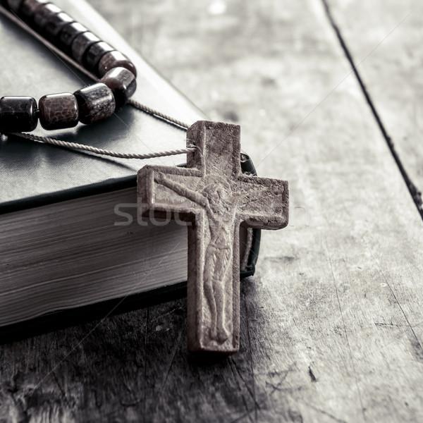крест поверхность любви Библии Сток-фото © nessokv