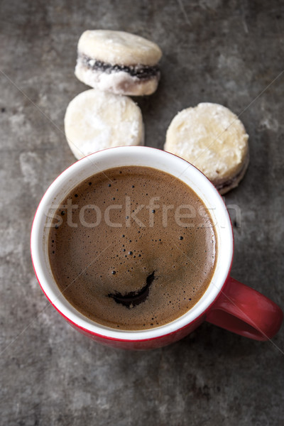 freshly brewed coffee and cookies Stock photo © nessokv