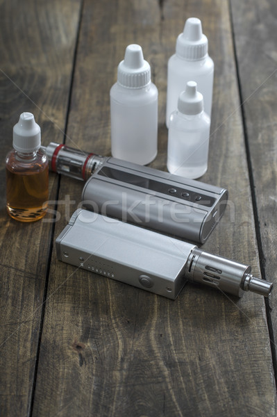 Különböző üvegek közelkép cigaretta ötlet Stock fotó © nessokv