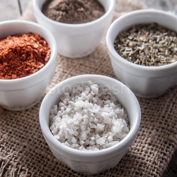 перец орегано приготовления соль кегли деревенский Сток-фото © nessokv