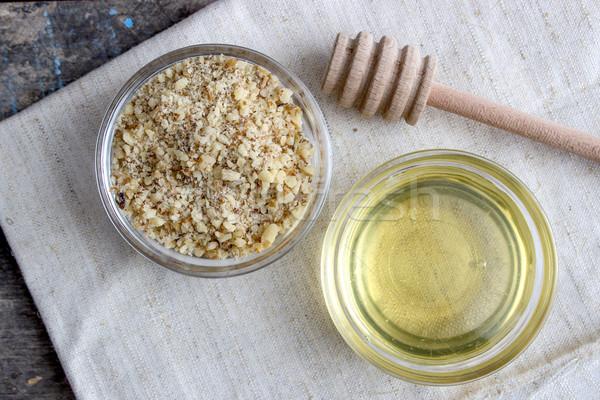 walnut and honey Stock photo © nessokv