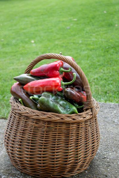 Paprika in a basket Stock photo © nessokv