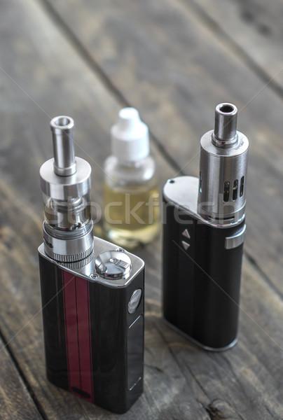高度な 個人 背景 黒 喫煙 液体 ストックフォト © nessokv