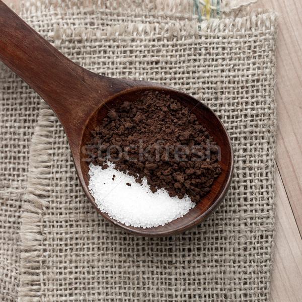 растворимый кофе сахар ложку непосредственно продовольствие Сток-фото © nessokv