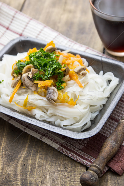 Chinese mix vegetables and rice noodles Stock photo © nessokv