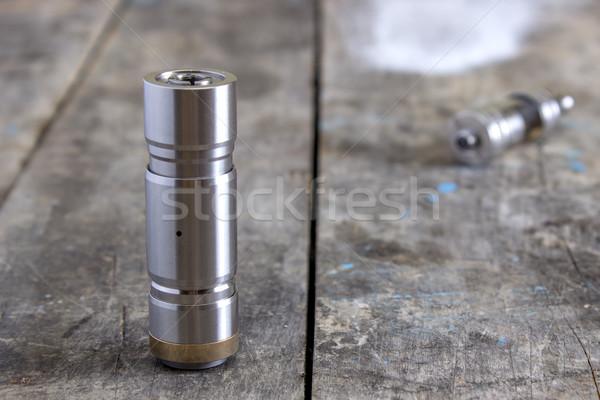 передовой стали курение сигарету серебро Сток-фото © nessokv