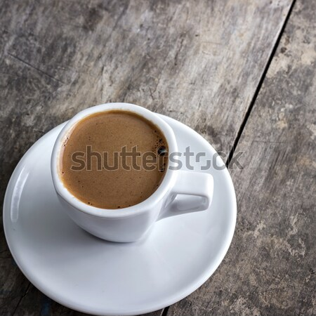 Tasse de café table couleur tasse carré Photo stock © nessokv