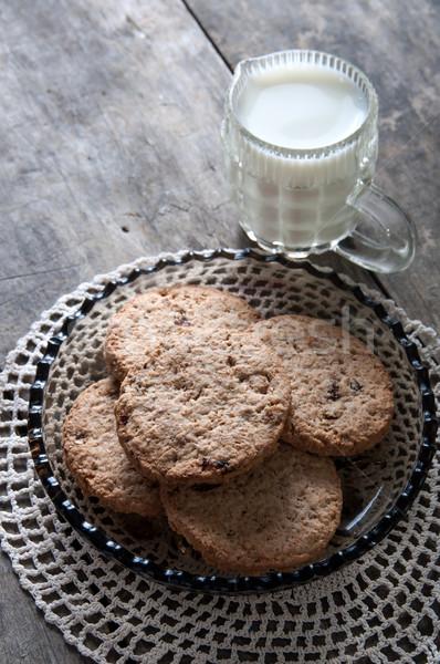 chocolate chip cookies and milk  Stock photo © nessokv