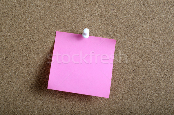 Reminder sticky note on cork board Stock photo © nessokv