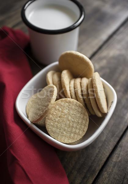 органический сахар Cookies молоко таблице Сток-фото © nessokv