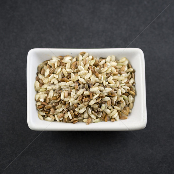 Brown rice on table Stock photo © nessokv