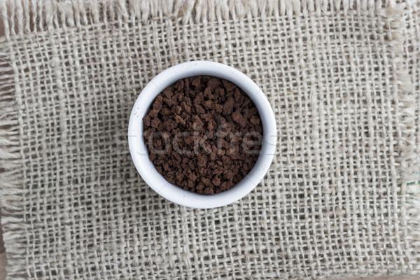 Caffè solubile uno ciotola direttamente sopra cafe Foto d'archivio © nessokv