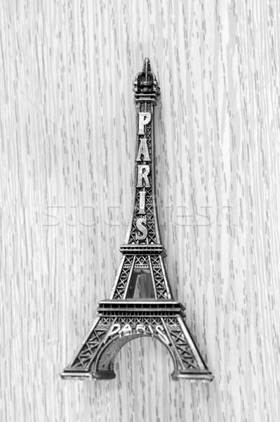 сувенир Франция небольшой Эйфелева башня таблице строительство Сток-фото © nessokv