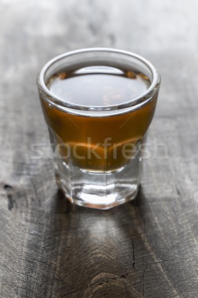 Scotch on wooden background Stock photo © nessokv