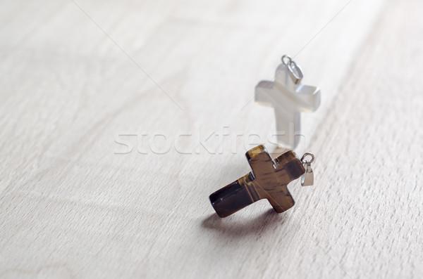 Atravessar madeira fé religioso Foto stock © nessokv