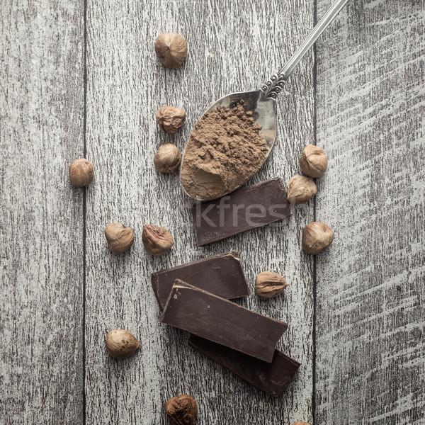 орехи фото шоколадом таблице Сток-фото © nessokv