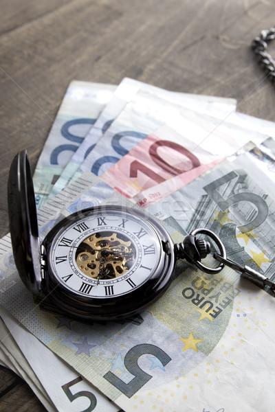 Время-деньги евро бумаги Сток-фото © nessokv
