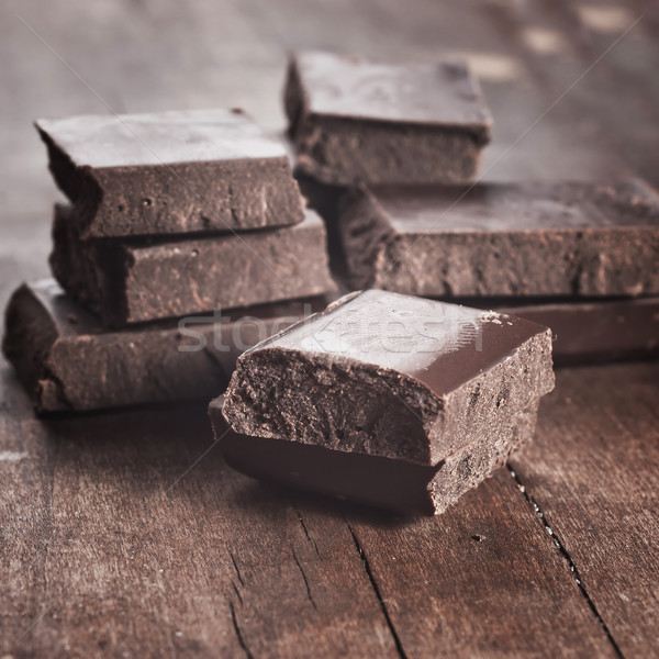 chocolate on old wooden plank Stock photo © nessokv