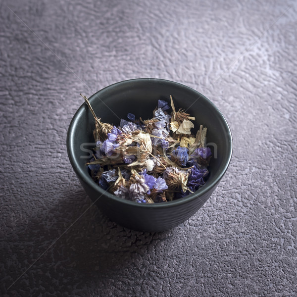 dry medicinal herbs in bowl Stock photo © nessokv