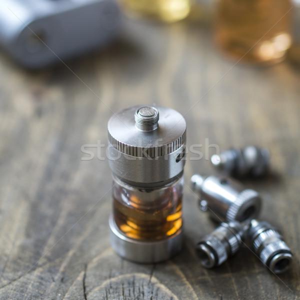 Elettronica sigaretta tavola industria nero Foto d'archivio © nessokv