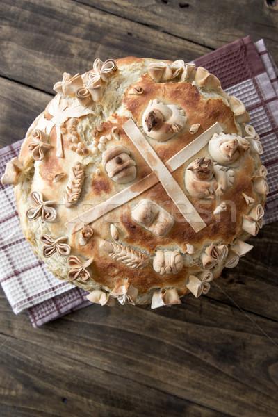 Festive bakery Holiday Bread Stock photo © nessokv